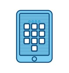 Digital security tablet vector