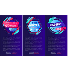 discount -25 off blue on vector image