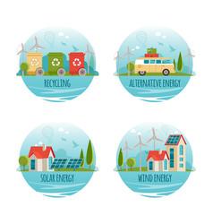 ecology alternative energy green technology vector image vector image
