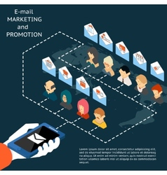 Email marketing and promotion app vector