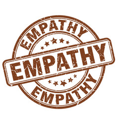 Empathy brown grunge stamp vector