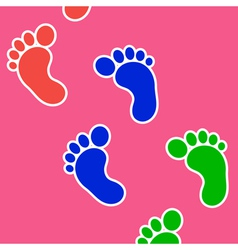 Footprints background vector image