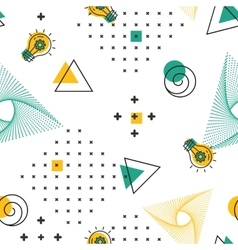 Geometric seamless pattern textile minimal hipster vector