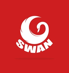 Images of swan design vector