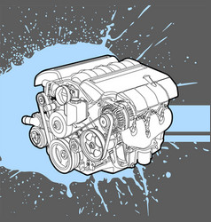 Internal combustion engine from the machine vector
