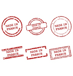 Made in France stamps vector image vector image
