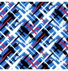Pattern with stripes and crosses vector