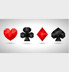 Playing card suits icon symbol vector