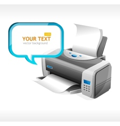 Printer and text vector