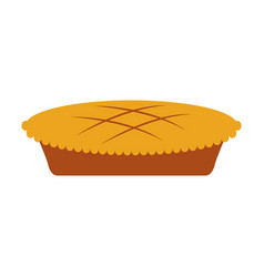 Pumpkin cake for halloween autumn celebration vector