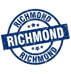 Richmond blue round grunge stamp vector