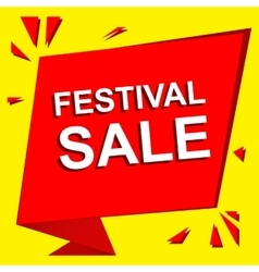 Sale poster with festival sale text advertising vector