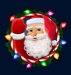 Santa icon vector image