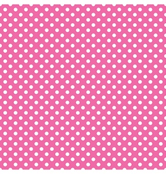 seamless pink polka dot vector image vector image