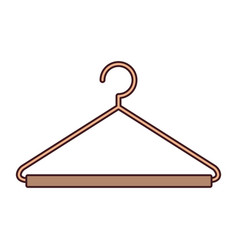 Silhouette color with hook closet shirt with thin vector