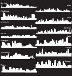 silhouettes of usa cities vector image