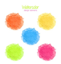 Watercolor rainbow spots set vector image vector image
