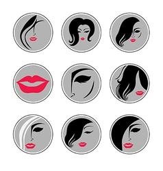 Woman hair pics vector