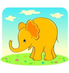 yellow elephant vector image