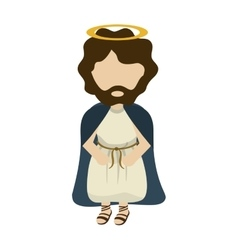 Jesus cartoon angel religion vector