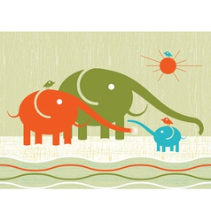 happy elephants vector image