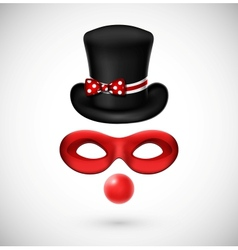 Accessories a clown vector image