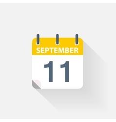 11 september calendar icon vector