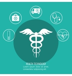 Set symbol medicine services medical isolated vector