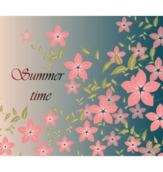 Spring summer background with flowers vector