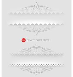 Ornamental decorative paper frames vector image