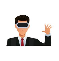 Virtual reality design vector