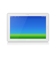 White Tablet PC Horizontal Copy Space vector image