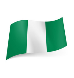 National flag of nigeria representing three vector