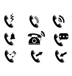 phone ring icons vector image