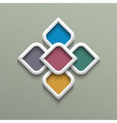 3d color pattern in arabic style vector