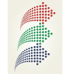 Set of dots arrows vector