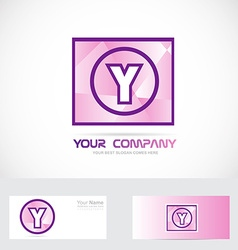 Letter y purple logo vector