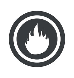 Round black fire sign vector