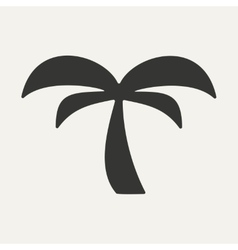 Flat in black and white mobile application palm vector
