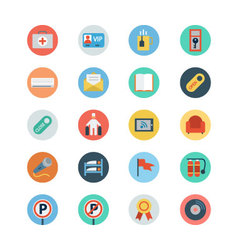 Hotel and restaurant flat colored icons 6 vector