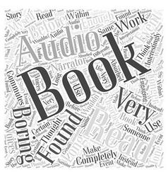 Audio books word cloud concept vector