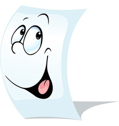 blank white page a sheet of paper with face - vector image