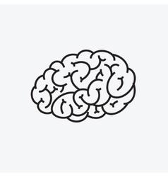 Brain icon stylized vector