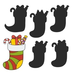 Christmas stocking stuffed vector