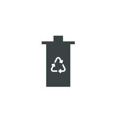 eco trash icon simple vector image vector image