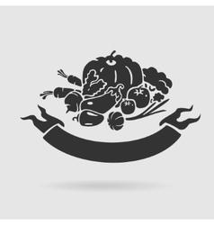 Emblem vegetables vector