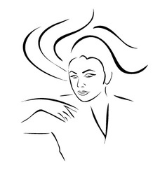 Face of a beautiful young woman vector image vector image