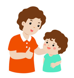 father admire son character cartoon vector image vector image