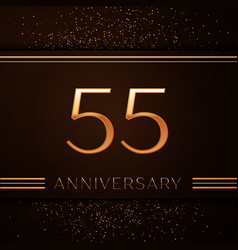 fifty five years anniversary celebration logotype vector image vector image