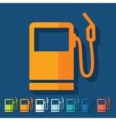 Flat design gas station vector